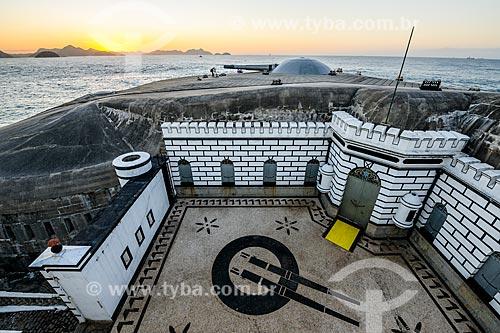 Amanhecer no antigo Forte de Copacabana (1914-1987), atual Museu Histórico do Exército  - Rio de Janeiro - Rio de Janeiro (RJ) - Brasil