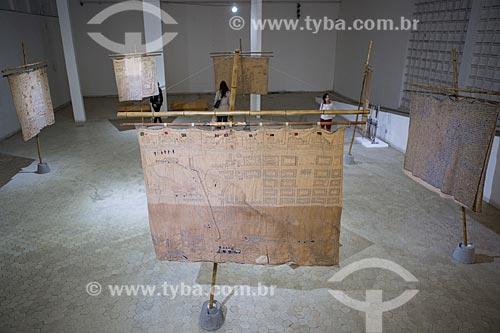 Obras de Arthur Bispo do Rosário em exibição no Museu Bispo do Rosário (1982) - na antiga Colônia Juliano Moreira  - Rio de Janeiro - Rio de Janeiro (RJ) - Brasil