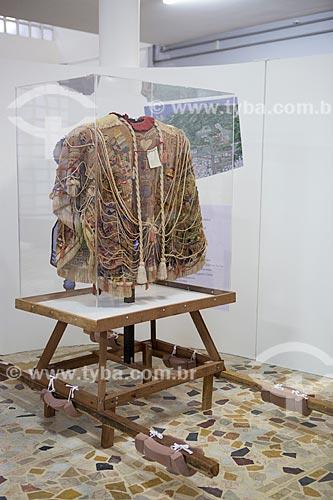 Manto da Apresentação - que Bispo deveria vestir no dia do Juízo Final - em exibição no Museu Bispo do Rosário (1982) - na antiga Colônia Juliano Moreira  - Rio de Janeiro - Rio de Janeiro (RJ) - Brasil