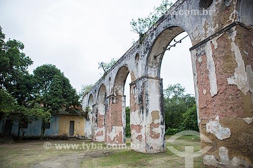 Aqueduto do antigo engenho no Núcleo Rodrigues Caldas - antiga Colônia Juliano Moreira  - Rio de Janeiro - Rio de Janeiro (RJ) - Brasil