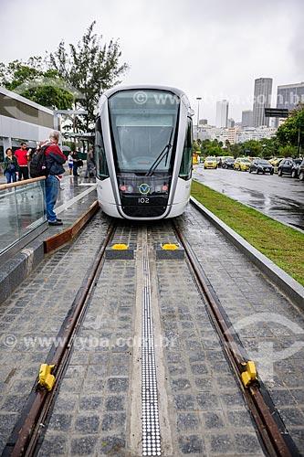 Viagem teste do Veículo Leve Sobre Trilhos (VLT) - Ponto Aeroporto Santos Dumont  - Rio de Janeiro - Rio de Janeiro (RJ) - Brasil