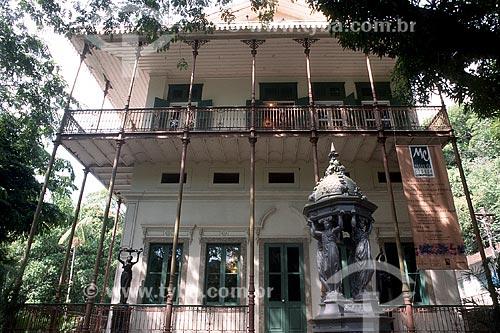 Fachada do Museu Histórico da Cidade do Rio de Janeiro - antiga casa de verão do Marquês de São Vicente  - Rio de Janeiro - Rio de Janeiro (RJ) - Brasil