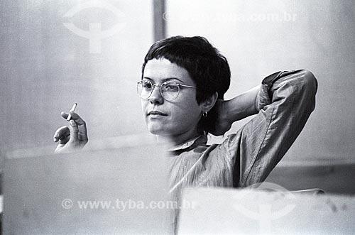 Cantora Elis Regina nos estúdios da Rádio Jornal do Brasil  - Rio de Janeiro - Rio de Janeiro (RJ) - Brasil