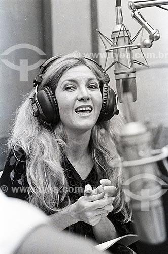 Cantora Wanderléia nos estúdios da Rádio Jornal do Brasil  - Rio de Janeiro - Rio de Janeiro (RJ) - Brasil