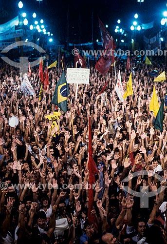 Manifestação da Campanha das Diretas Já  - Rio de Janeiro - Rio de Janeiro (RJ) - Brasil