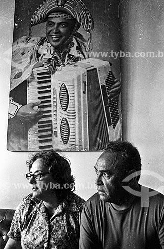 Cantor Luis Gonzaga e sua esposa Helena Neves Cavalcanti  - Rio de Janeiro - Rio de Janeiro (RJ) - Brasil