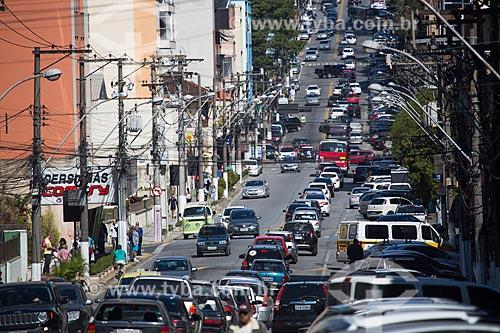 Vista geral da Avenida Oliveira Botelho  - Teresópolis - Rio de Janeiro (RJ) - Brasil