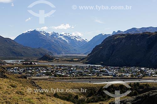 Vista geral da cidade de El Chaltén no Parque Nacional Los Glaciares  - El Chaltén - Província de Santa Cruz - Argentina