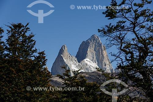 Detalhe do Monte Fitz Roy no Parque Nacional Los Glaciares  - El Chaltén - Província de Santa Cruz - Argentina