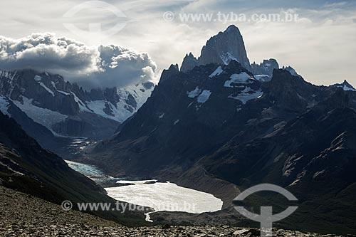 Vista geral do Parque Nacional Los Glaciares com o Monte Fitz Roy ao fundo  - El Chaltén - Província de Santa Cruz - Argentina
