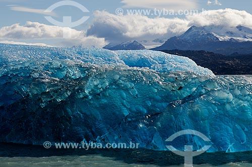 Vista de geleira na Cordilheira dos Andes na cidade de El Calafate  - El Calafate - Província de Santa Cruz - Argentina