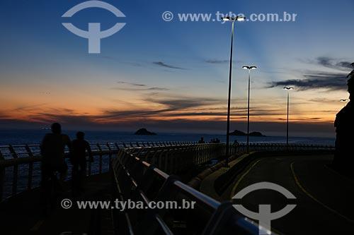 Amanhecer na Ciclovia Tim Maia  - Rio de Janeiro - Rio de Janeiro (RJ) - Brasil