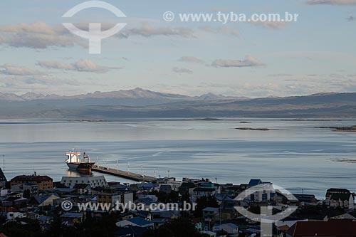 Vista geral da Bahía Lapataia (Baía de Lapataia)  - Ushuaia - Província Terra do Fogo - Argentina