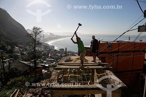 Demolição de casa na favela do Vidigal  - Rio de Janeiro - Rio de Janeiro (RJ) - Brasil