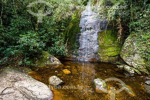 Cachoeira Véu da Noiva no Parque Nacional da Serra dos Órgãos durante a trilha da Pedra do Sino  - Teresópolis - Rio de Janeiro (RJ) - Brasil