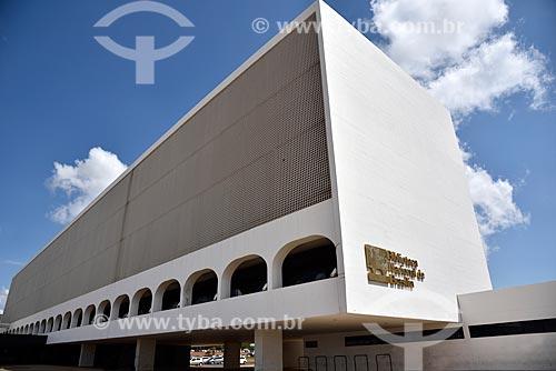 Fachada da Biblioteca Nacional de Brasília (2006) - parte do Complexo Cultural da República João Herculino  - Brasília - Distrito Federal (DF) - Brasil