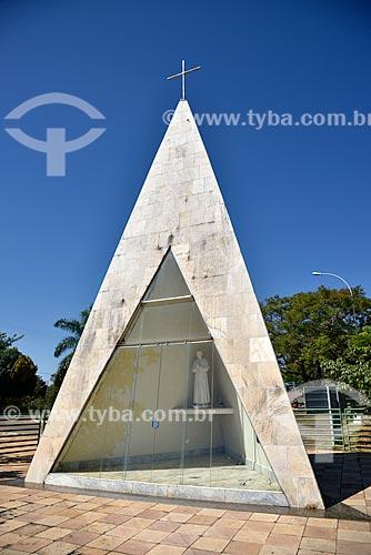 Imagem de Dom Bosco na Capela Ermida Dom Bosco - Parque Ecológico Ermida Dom Bosco  - Brasília - Distrito Federal (DF) - Brasil