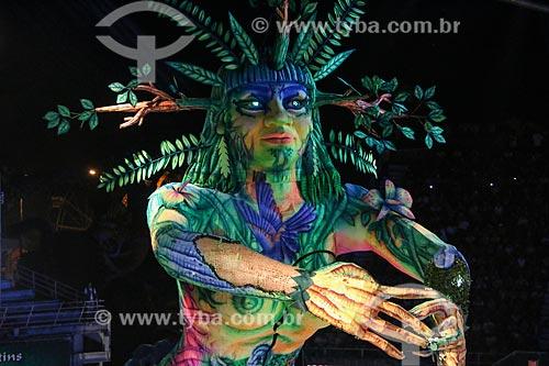 Apresentação do Boi Caprichoso durante o Festival de Folclore de Parintins no Centro Cultural e Esportivo Amazonino Mendes (1988) - também conhecido como Bumbódromo  - Parintins - Amazonas (AM) - Brasil