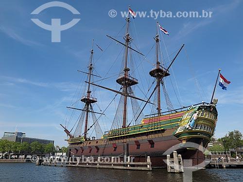 Réplica do veleiro Amsterdam da Companhia Holandesa das ͍ndias Orientais - Scheepvaart Museum (Museu Marítimo Nacional)  - Amsterdam - Holanda do Norte - Holanda