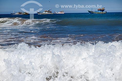 Barcos pesqueiros na Praia de Geribá  - Armação dos Búzios - Rio de Janeiro (RJ) - Brasil