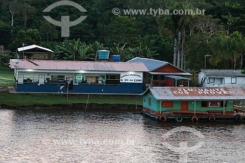 Escola Municipal Nossa Senhora do Carmo na comunidade ribeirinha às margens do Rio Amazonas  - Careiro da Várzea - Amazonas (AM) - Brasil