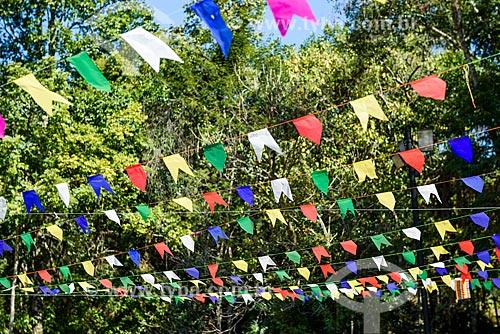 Bandeirinhas de decoração para a festa de São João no Chalé Clube Alto da Serrinha  - Resende - Rio de Janeiro (RJ) - Brasil