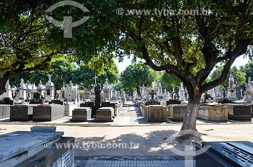 Interior do Cemitério da Venerável Ordem Terceira de São Francisco da Penitência - também conhecido como Cemitério da Penitência  - Rio de Janeiro - Rio de Janeiro (RJ) - Brasil