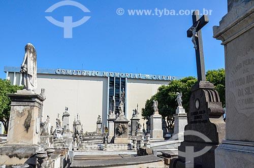 Interior do Cemitério da Venerável Ordem Terceira de São Francisco da Penitência - também conhecido como Cemitério da Penitência - com o Cemitério Vertical do Carmo ao fundo  - Rio de Janeiro - Rio de Janeiro (RJ) - Brasil