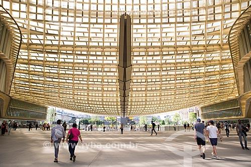Hall do Espaço comercial Forum des Halles - onde ficava o antigo Mercado Les Halles  - Paris - Paris - França