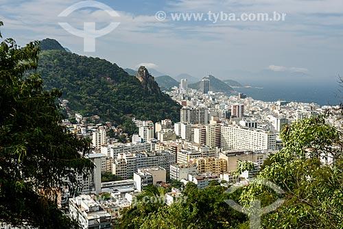 Vista do bairro de Copacabana durante a trilha no Morro dos Cabritos  - Rio de Janeiro - Rio de Janeiro (RJ) - Brasil