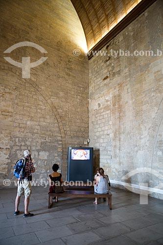 Exposição no Palais des Papes (Palácio dos Papas) - 1345  - Avignon - Departamento de Vaucluse - França