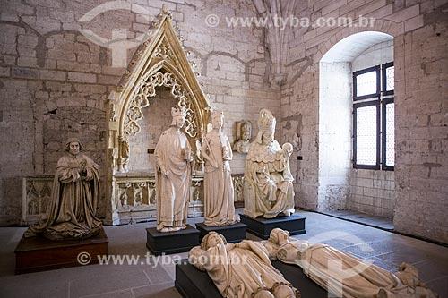 Esculturas na Sacristia Norte do Palais des Papes (Palácio dos Papas) - 1345  - Avignon - Departamento de Vaucluse - França