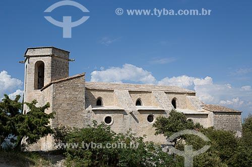 Fachada da Igreja La Collégiale Notre Dame dAlidon (século XVI)  - Oppède - Departamento de Vaucluse - França
