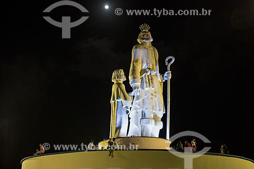 Detalhe da Estátua de São José de Ribamar  - São José de Ribamar - Maranhão (MA) - Brasil
