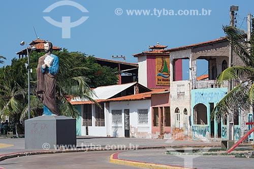Estátua de São Pedro na cidade de Raposa  - Raposa - Maranhão (MA) - Brasil
