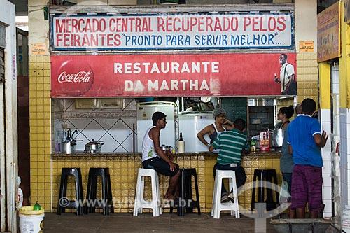 Restaurante no Mercado Central de São Luís  - São Luís - Maranhão (MA) - Brasil