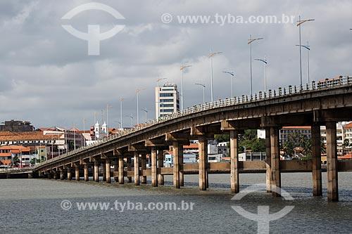 Vista da Ponte José Sarney (1970) - também conhecida como Ponte do São Francisco  - São Luís - Maranhão (MA) - Brasil
