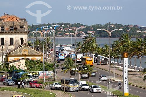 Trânsito na Avenida Beira Mar  - São Luís - Maranhão (MA) - Brasil