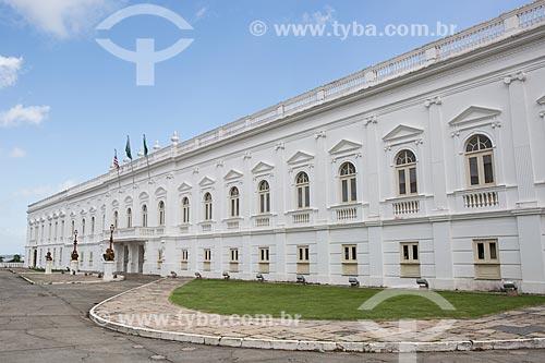 Fachada do Palácio dos Leões (1766) - sede do Governo do Estado  - São Luís - Maranhão (MA) - Brasil