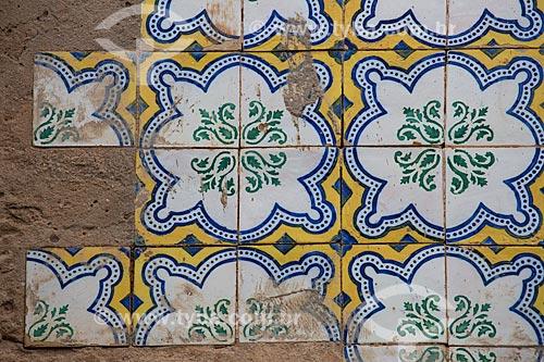 Detalhe de azulejos na Rua do Giz  - São Luís - Maranhão (MA) - Brasil