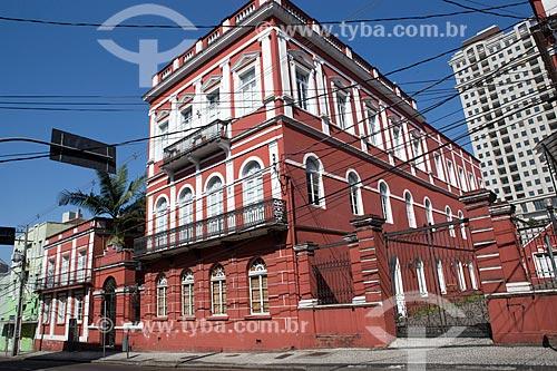 Antigo Solar do Barão (1880) - antiga residência de Ildefonso Pereira Correia, Barão do Serro Azul - atualmente abriga o Museu da Fotografia, o Museu da Gravura, o Museu do Cartaz e a Gibiteca  - Curitiba - Paraná (PR) - Brasil