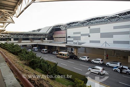 Fachada do Aeroporto Internacional Afonso Pena - também conhecido como Aeroporto Internacional de Curitiba  - São José dos Pinhais - Paraná (PR) - Brasil