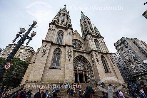 Fachada do Catedral da Sé (Catedral Metropolitana Nossa Senhora da Assunção) - 1954  - São Paulo - São Paulo (SP) - Brasil