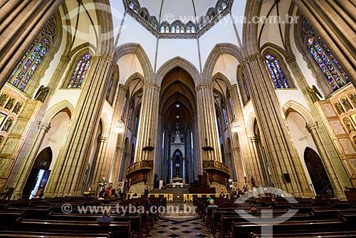 Interior da Catedral da Sé (Catedral Metropolitana Nossa Senhora da Assunção) - 1954  - São Paulo - São Paulo (SP) - Brasil
