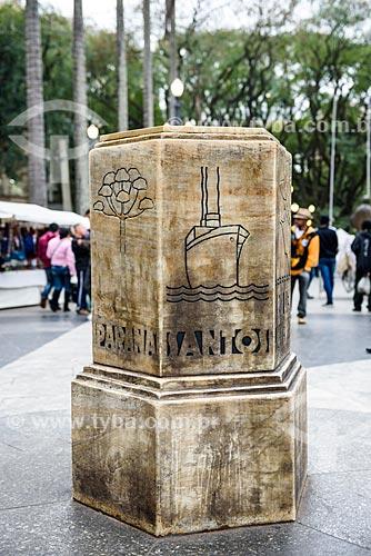 Detalhe do Marco Zero de São Paulo na Praça da Sé  - São Paulo - São Paulo (SP) - Brasil