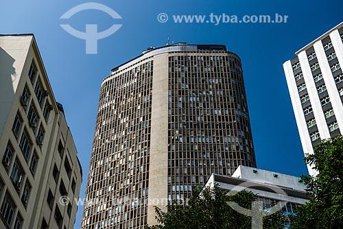 Detalhe da fachada do Edifício Circolo Italiano (1965) - mais conhecido como Edifício Itália  - São Paulo - São Paulo (SP) - Brasil