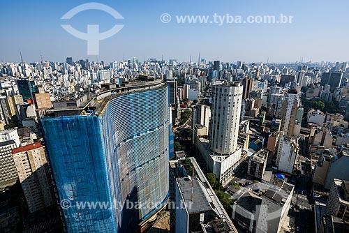 Vista do Edifício Copan (1966) e de prédios do centro histórico da cidade de São Paulo  - São Paulo - São Paulo (SP) - Brasil