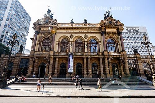 Fachada do Theatro Municipal de São Paulo (1911)  - São Paulo - São Paulo (SP) - Brasil