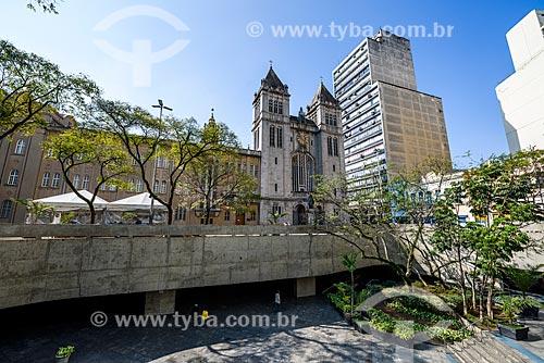 Fachada da Basílica de Nossa Senhora da Assunção - parte do Mosteiro de São Bento  - São Paulo - São Paulo (SP) - Brasil