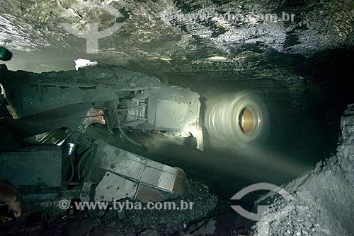 Minerador contínuo - Mina Fontanella - Carbonífera Metropolitana  - Treviso - Santa Catarina (SC) - Brasil
